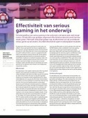 De effectiviteit van serious gaming | Master Leren & Innoveren | Scoop.it