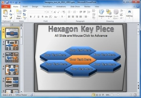 PowerPoint Template With Animated Hexagon Shapes | Free Business PowerPoint Templates | Scoop.it