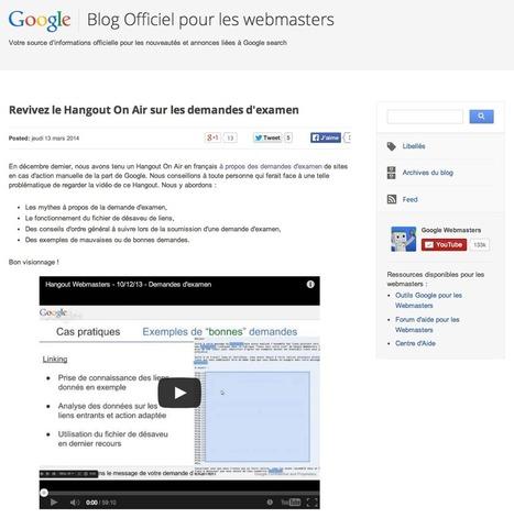 Google lance un blog pour webmasters en français | Time to Learn | Scoop.it