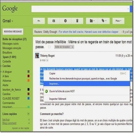 Comment sauvegarder un email ou une partie d'email en pdf | Geeks | Scoop.it