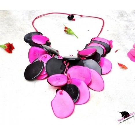Leaves Necklace Set Made with Tagua Nut (vegetable ivory) | Natural Organic Jewelry | Scoop.it