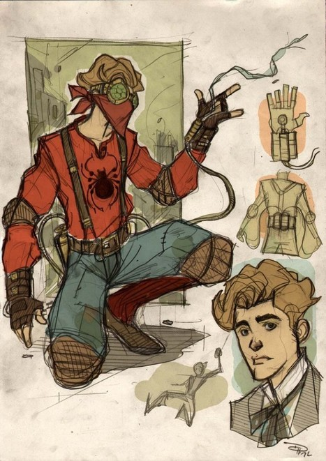 Dennis Medry – Fantasy Avengers, Steampunk Spiderman & Rockabilly Batman   All Geeks   Scoop.it