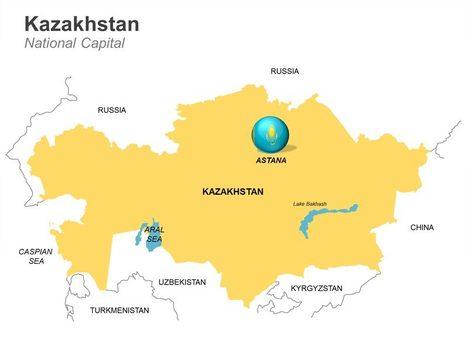 Kazakhstan Map - Fully Editable PPT   Editable Kazakhstan map   Scoop.it