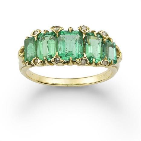 An emerald five stone ring - Bentley & Skinner | Bentley And Skinner | Scoop.it