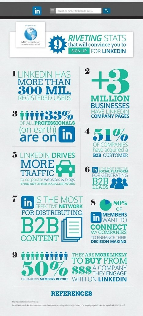 Why LinkedIn Is Brilliant for Small Business Marketing [INFOGRAPHIC] | Effective Website Marketing | Scoop.it