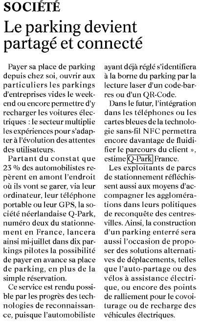 Le Journal de Saône et Loire   Grande enquête Q-Park Les Français et le stationnement   Scoop.it