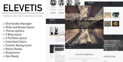Elevetis - Premium One Page WordPress Theme | HTML5 CSS3 | Scoop.it
