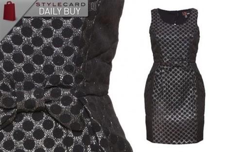 Daily Buy: Dot Brocade Bow Dress   StyleCard Fashion Portal   StyleCard Fashion   Scoop.it