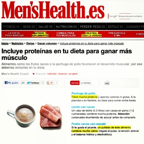 Pechuga de pollo, frutos secos con wasabi y leche con cacao son fuentes de proteínas http://t.co/GgWVHHAHQU | @hectorarturo | Scoop.it
