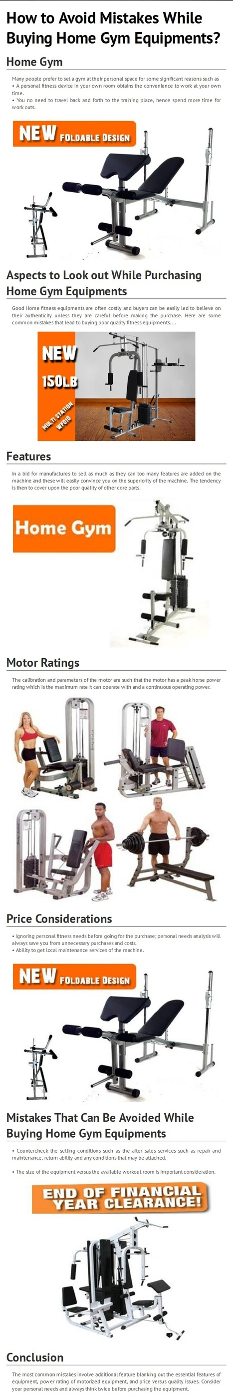 Tips While Buying Home Gym Equipments by www.worldfitness.com   worldfitness   Scoop.it