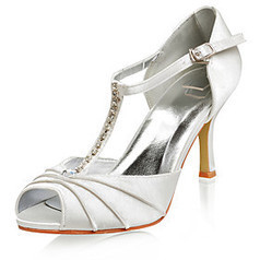 Top Quality Satin Upper High Heel Peep-toes With Rhinestone Fashion Shoes | Product We Love | Scoop.it
