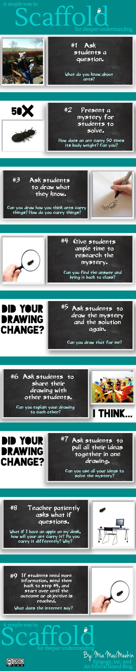 9 Strategies to Scaffold for Students Deeper Learning [Infographic] | school improvement process | Scoop.it