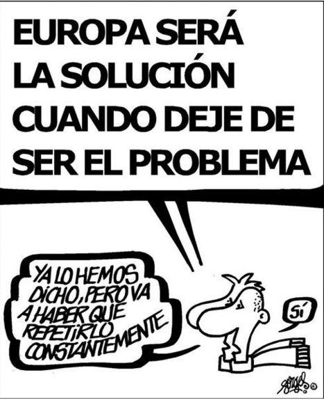 """""""L'#Europe sera la solution lorsqu'elle ne sera plus le problème"""" #dessin #cartoon    Infos en français   Scoop.it"""