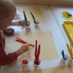 Feather pen painting in preschool | Teach Preschool | Scoop.it