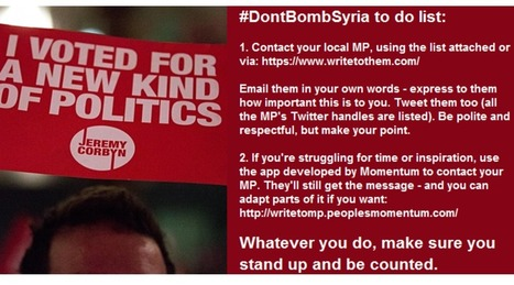 Don't Bomb Syria | Welfare, Disability, Politics and People's Right's | Scoop.it