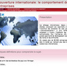 L'ouverture internationale et le comportement de l'entreprise