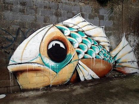 """Mika /// """"Dry Fish"""" au Port de Commerce, Lorient   graphisme   Scoop.it"""