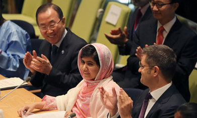 Malala delivers defiant riposte to Taliban militants as UN hails 'our hero' | Women of The Revolution | Scoop.it