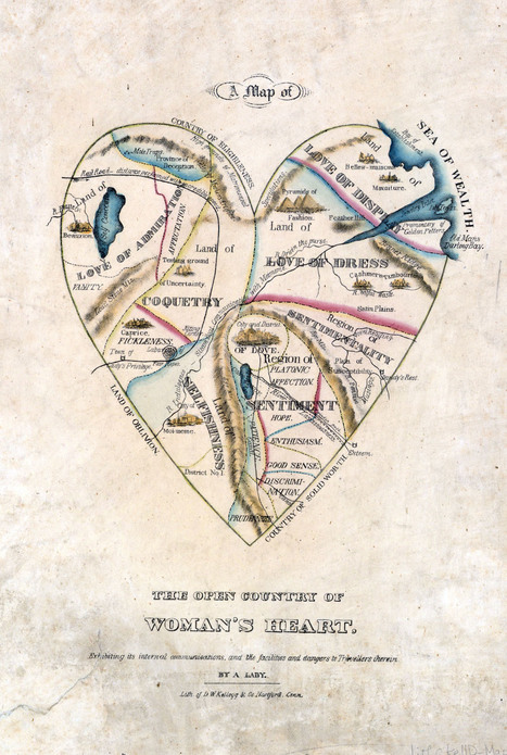 A Map of Woman's Heart: Appalling Victorian Gender Stereotypes, in Illustrated Cartography | Women of The Revolution | Scoop.it