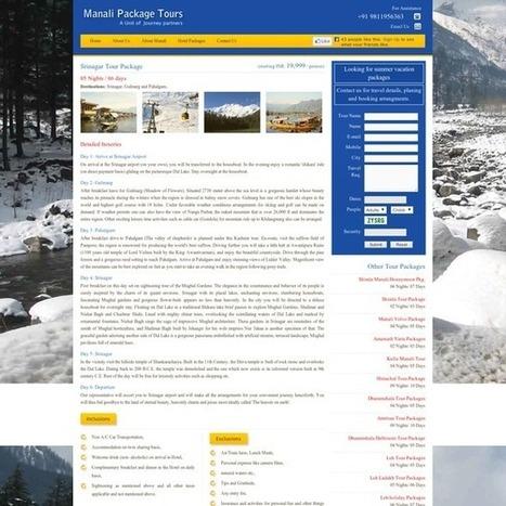 Srinagar Tour Packages, Kashmir Tour | Manali Volvo Packages | Scoop.it