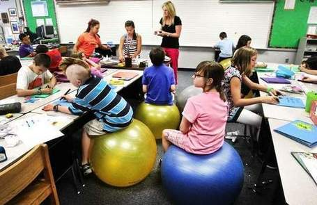Fishers kids swap chairs for exercise balls | Education-Caitlin | Scoop.it