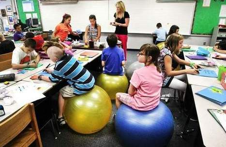 Fishers kids swap chairs for exercise balls | Elementary Activities | Scoop.it