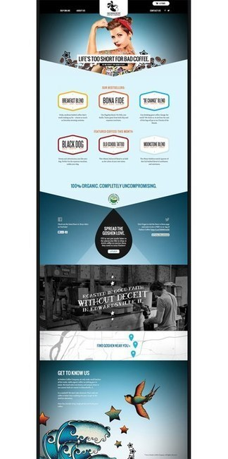 Goshen Coffee Company packaging | Eye on concepts | Scoop.it