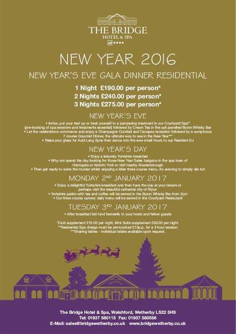 2016 New Year's Eve Packages | The Bridge Hotel and Spa | Scoop.it