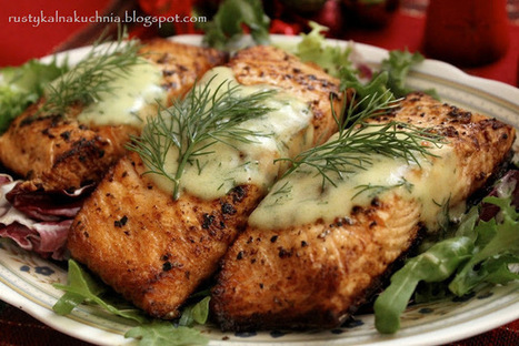 #Recipe / Salmon with dill sauce | foodie | Scoop.it