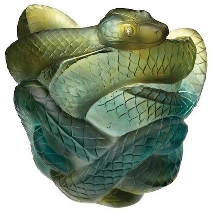 Vase Serpent - Daum fête le Nouvel An Chinois... | Nouvel An Chinois 2013 à Nancy Année du Serpent le 9 février de 11h à 17h place Maginot à Nancy | Scoop.it