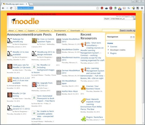 Moodle.org 2013 reboot coming to a browser near you | MEDIOS INFORMÁTICOS | Scoop.it