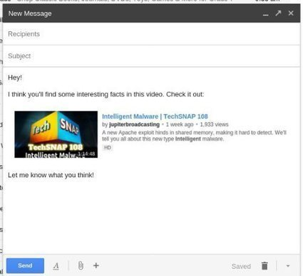 How to Better Embed YouTube Videos Into Gmail | formation 2.0 | Scoop.it