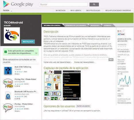 Informática para Educación Especial: Tico4Android: nueva versión ... | Impacto TIC en Educación | Scoop.it