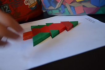 Structured Play: Christmas Pattern Block Boards | Jardim de Infância | Scoop.it