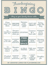 Thanksgiving Bingo - Socks On An Octopus | SOAO Funny and Unusual | Scoop.it