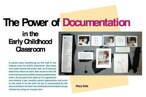 article on documentation from NAEYC   Play Based Learning   Pinterest   Reggio Inspired Learning   Scoop.it
