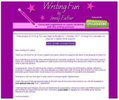 Writing Fun by Jenny Eather - helping kids with how to write using text organizers - an interactive writing resource | Educational web resources | Scoop.it