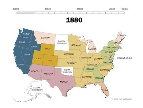 Where U.S. Immigrants Came From | Geography Education | Scoop.it