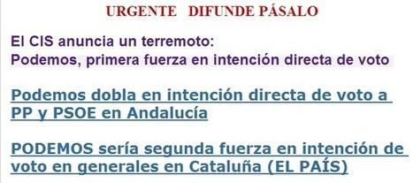 URGENTE - El CIS anuncia un terremoto: Podemos, primera fuerza en intención directa de voto | NC observer | Scoop.it