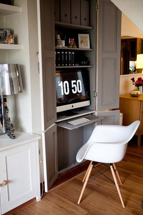 Astuces déco gain de place : installer un bureau dans une armoire | DecoCrush blog déco, idées déco | décoration & déco | Scoop.it