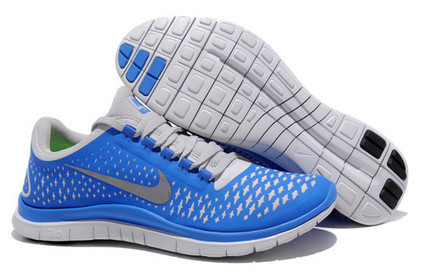 Nike Free 3.0 v4 Mens Platinum Reflective Silver Fly Blue | Mens Free Runs 3.0 V4 For Cheap | Scoop.it