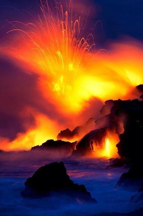 Twitter / EarthBeauties: Lava meets the ocean, Hawaii. ... | Hawaii with Aloha | Scoop.it
