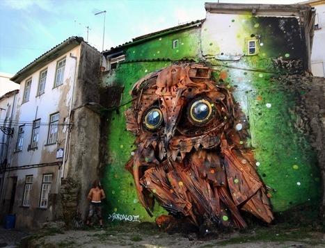 Bordalo from Portugal. Mixed-media street artist. Fantastico! | Street Art and Street Artists | Scoop.it