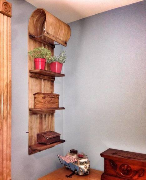 Old Wooden Sledge Upcycled Into Rustic Shelf | Interior and home decor | Scoop.it