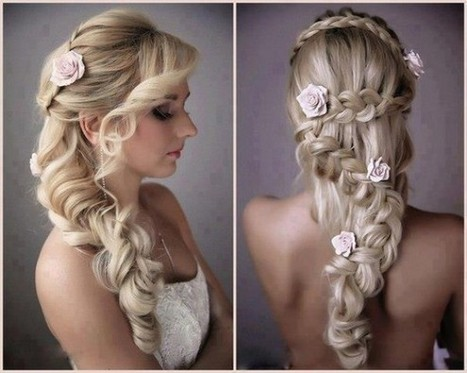 Roses Braid Wedding Hairstyle ♥ Gorgeou...