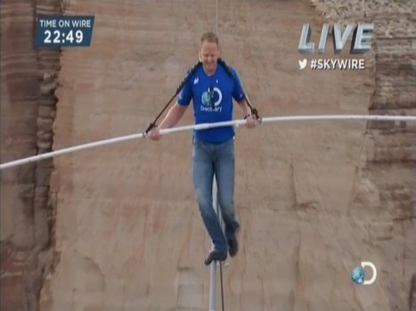 Man Completes High-Wire Walk Near Grand Canyon On Live TV | Strange days indeed... | Scoop.it