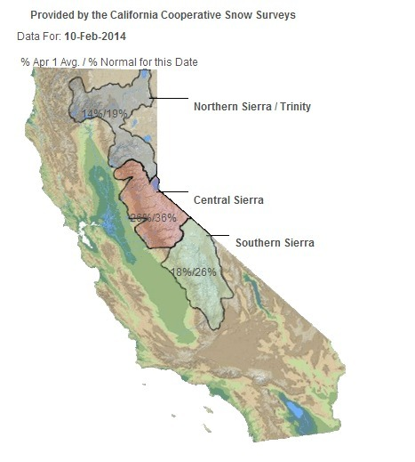 Still Lacking Over 70% of Snow in the California Sierra | An-Min's Geospatial World | Scoop.it