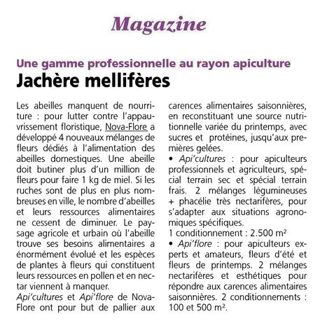 Jachère mellifère - Une gamme professionnelle au rayon apiculture - L'OISE AGRICOLE – 29 avril 16 | Revue de presse Nova-Flore | Scoop.it