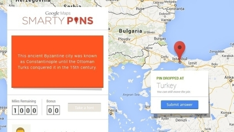 Google Smarty Pins Game to Test Geography Knowledge - Voniz Articles | Tech News Voniz Articles | Scoop.it
