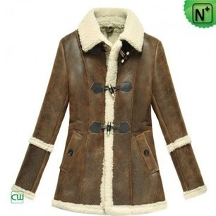 Women Sheepskin Coat CW614022 | Fur Trimmed Coats | Scoop.it